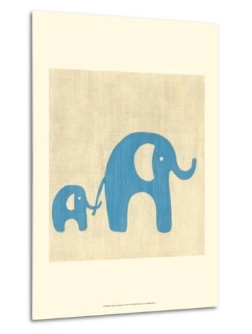 Best Friends - Elephants-Chariklia Zarris-Metal Print