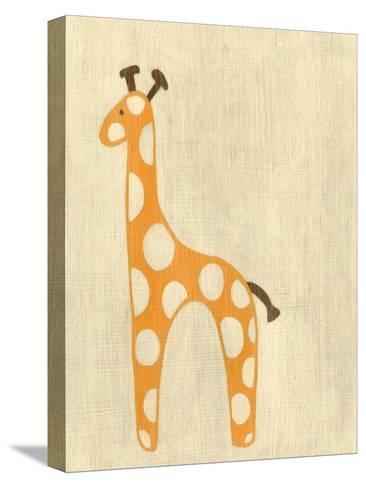Best Friends - Giraffe-Chariklia Zarris-Stretched Canvas Print