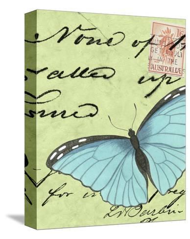 Le Papillon Script III--Stretched Canvas Print