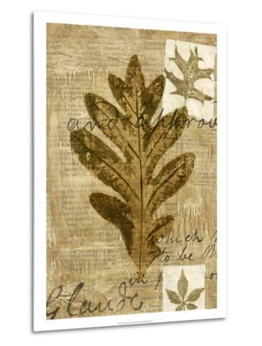 Leaf Collage I-Kate Archie-Metal Print