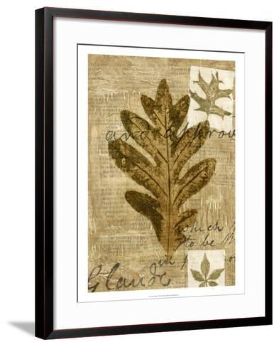 Leaf Collage I-Kate Archie-Framed Art Print