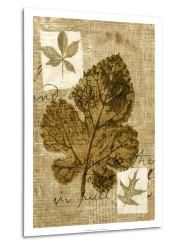 Leaf Collage IV-Kate Archie-Metal Print