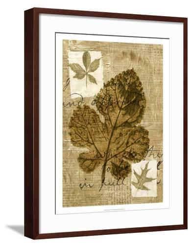 Leaf Collage IV-Kate Archie-Framed Art Print