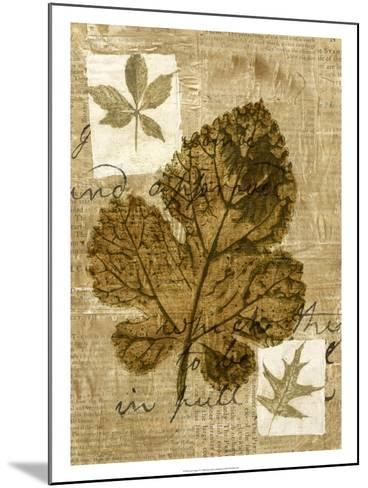 Leaf Collage IV-Kate Archie-Mounted Art Print