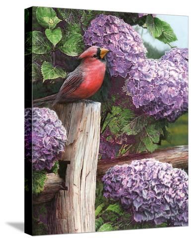 Crimson Splendor-Kevin Daniel-Stretched Canvas Print