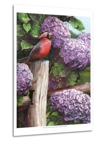 Crimson Splendor-Kevin Daniel-Metal Print