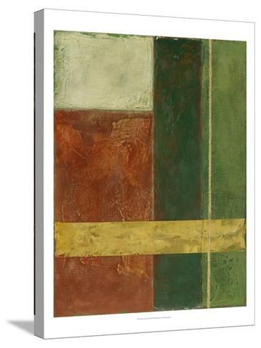 Red, Green, Gold I-Megan Meagher-Stretched Canvas Print