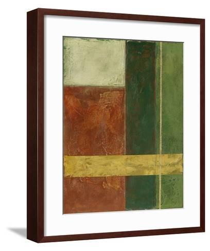 Red, Green, Gold I-Megan Meagher-Framed Art Print