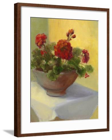 Tuscan Geraniums-Mary Jean Weber-Framed Art Print