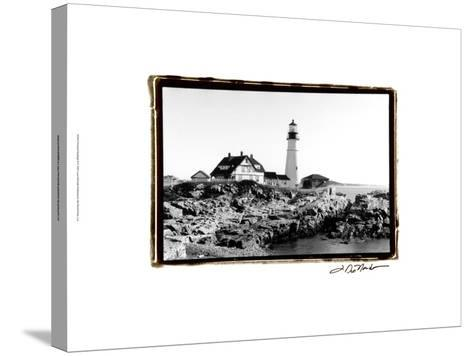 Portland Headlight II-Laura Denardo-Stretched Canvas Print