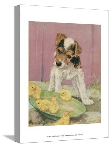 Terrier Trouble II--Stretched Canvas Print