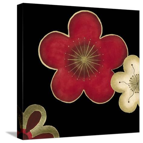 Pop Blossoms in Red II-Erica J^ Vess-Stretched Canvas Print