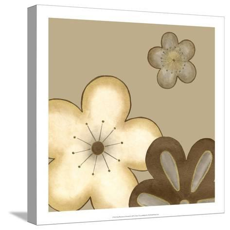Pop Blossoms in Neutral I-Erica J^ Vess-Stretched Canvas Print