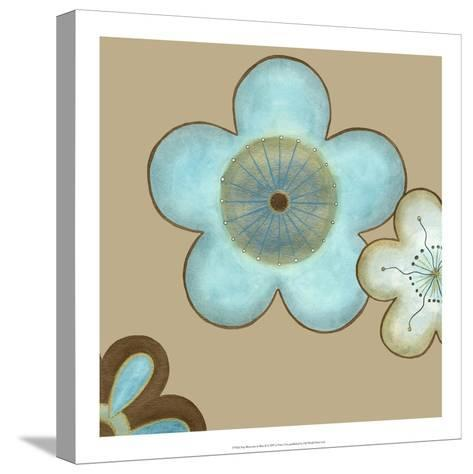 Pop Blossoms in Blue II-Erica J^ Vess-Stretched Canvas Print