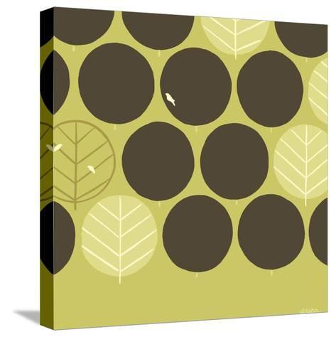Forest Motif II-Erica J^ Vess-Stretched Canvas Print