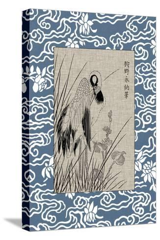 Asian Crane Panel II--Stretched Canvas Print