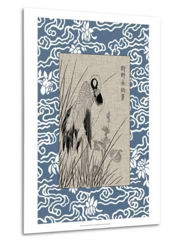 Asian Crane Panel II--Metal Print