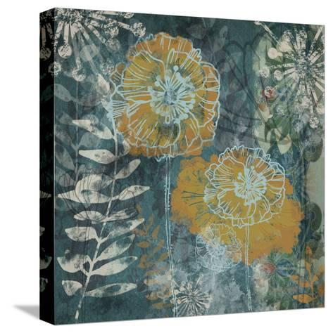 Navy Poppies I-Maria Woods-Stretched Canvas Print