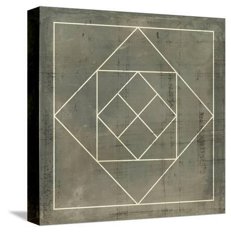Geometric Blueprint V--Stretched Canvas Print