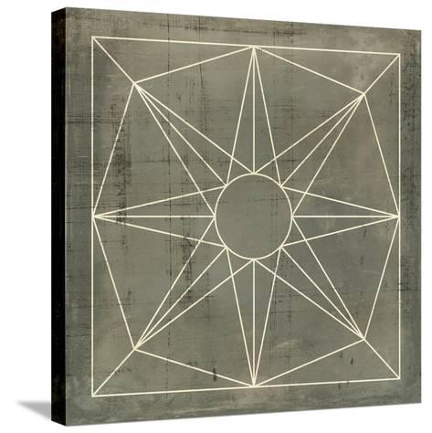 Geometric Blueprint VII--Stretched Canvas Print