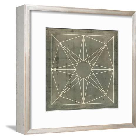 Geometric Blueprint VII--Framed Art Print