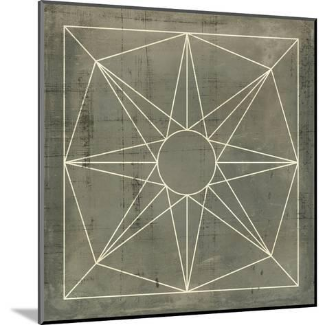 Geometric Blueprint VII--Mounted Art Print