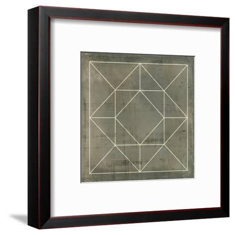 Geometric Blueprint VIII--Framed Art Print