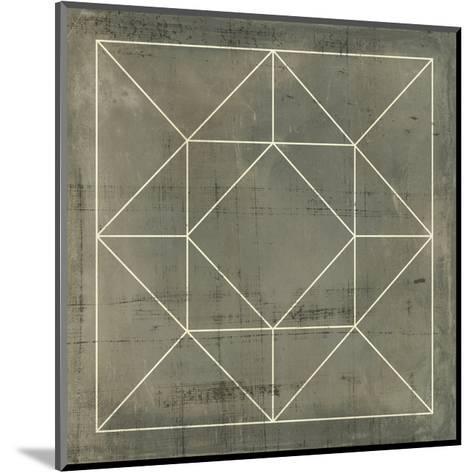 Geometric Blueprint VIII--Mounted Art Print