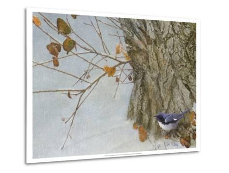 Late Snow Warbler-Chris Vest-Metal Print