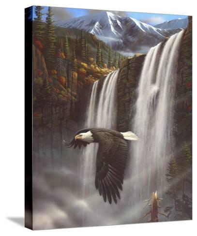 Eagle Portrait-Leo Stans-Stretched Canvas Print