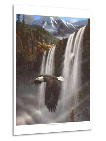 Eagle Portrait-Leo Stans-Metal Print