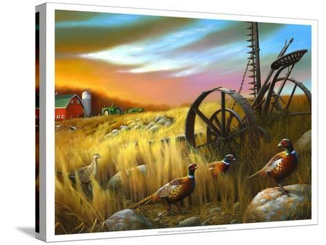 Pheasants I-Leo Stans-Stretched Canvas Print