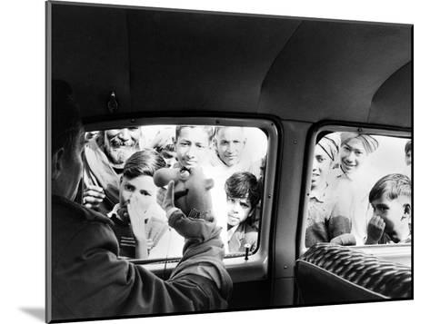 Indian children looking into puppeteer Bil Baird's car, March 1962.-James Burke-Mounted Premium Photographic Print