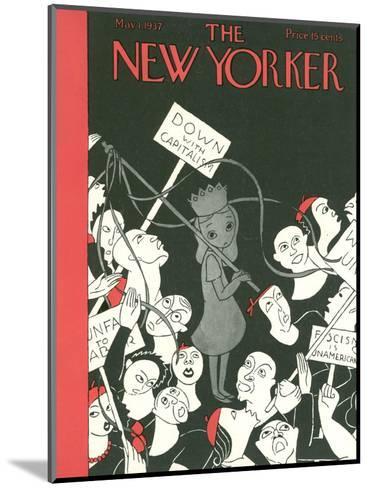 The New Yorker Cover - May 1, 1937-Christina Malman-Mounted Premium Giclee Print