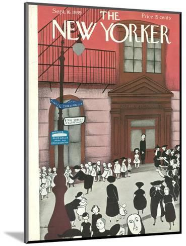 The New Yorker Cover - September 16, 1939-Christina Malman-Mounted Premium Giclee Print