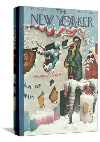 The New Yorker Cover - February 24, 1940-Christina Malman-Stretched Canvas Print