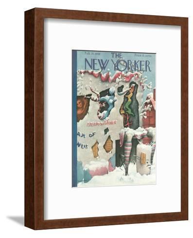 The New Yorker Cover - February 24, 1940-Christina Malman-Framed Art Print