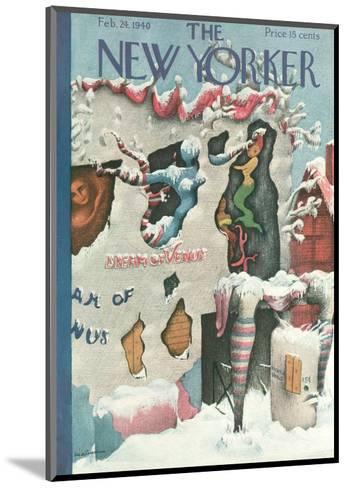 The New Yorker Cover - February 24, 1940-Christina Malman-Mounted Premium Giclee Print