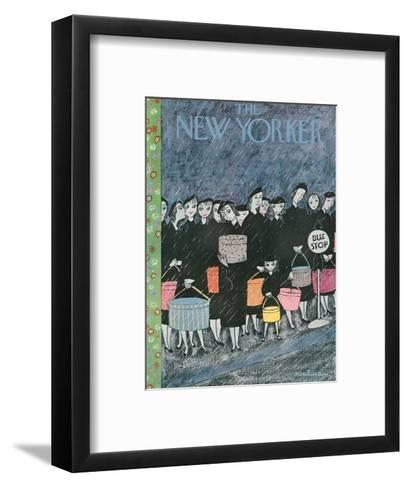 The New Yorker Cover - March 31, 1956-Christina Malman-Framed Art Print