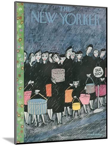 The New Yorker Cover - March 31, 1956-Christina Malman-Mounted Premium Giclee Print
