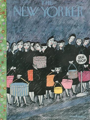 The New Yorker Cover - March 31, 1956-Christina Malman-Stretched Canvas Print