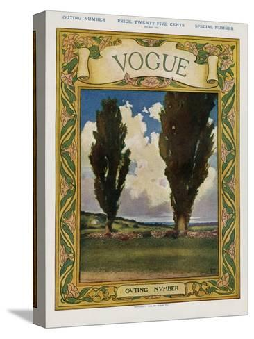 Vogue Cover - May 1905--Stretched Canvas Print