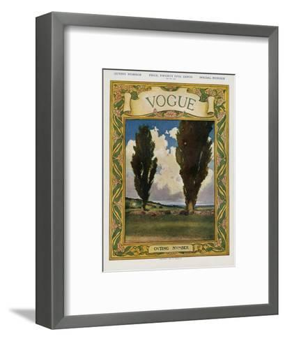 Vogue Cover - May 1905--Framed Art Print