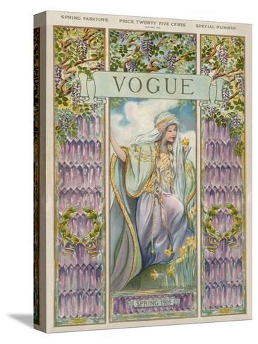 Vogue Cover - April 1905--Stretched Canvas Print