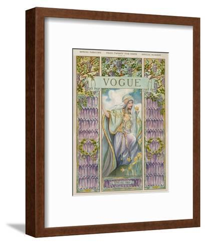 Vogue Cover - April 1905--Framed Art Print