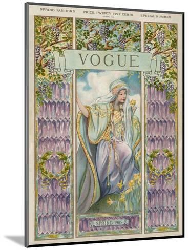 Vogue Cover - April 1905--Mounted Premium Giclee Print