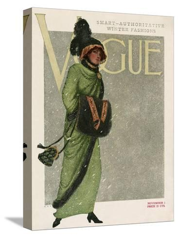 Vogue Cover - November 1910--Stretched Canvas Print