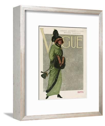 Vogue Cover - November 1910--Framed Art Print