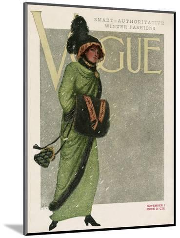 Vogue Cover - November 1910--Mounted Premium Giclee Print