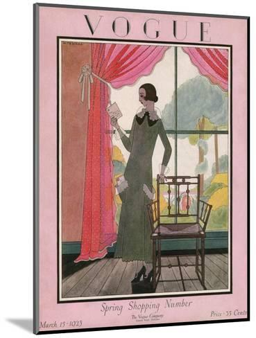 Vogue Cover - March 1923-Harriet Meserole-Mounted Premium Giclee Print